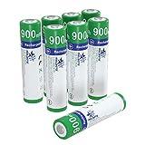 Melasta 単4形充電池 1.6V 充電式ニッケル亜鉛電池 8本入り 900mWh Ni-Zn単四充電池 【500回以上循環使用可能】【1年保証】【ROHS、CE認証】