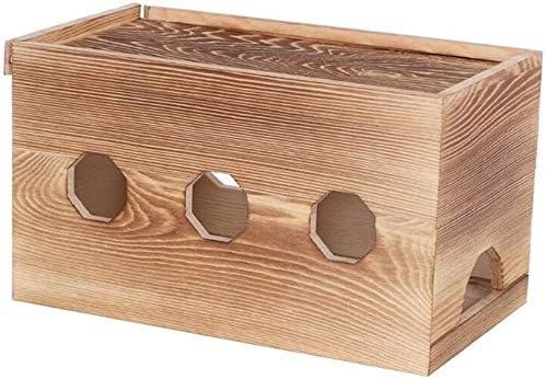 GJJSZ Router Rack Our shop OFFers the best service Shelves Wooden Management Unde Philadelphia Mall Cable Box,