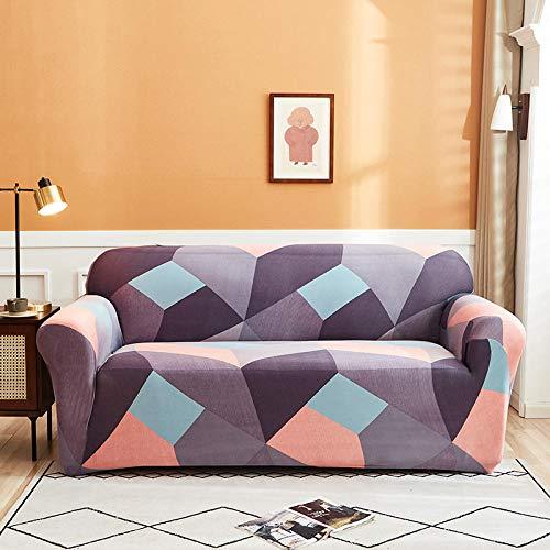 HXTSWGS Protector de Muebles Ajustable,Fundas Protectoras de sofá Impresas, para Sala de Estar Funda elástica elástica, Fundas seccionales de sofá de Esquina-Color 11_1-plazas 90-140cm