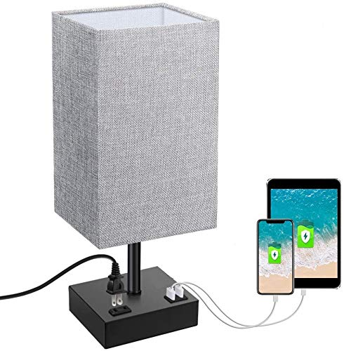 Touch Control Table Lamp, SOLMORE 3 Way Dimmable Bedside Nightstand Lamp, with...