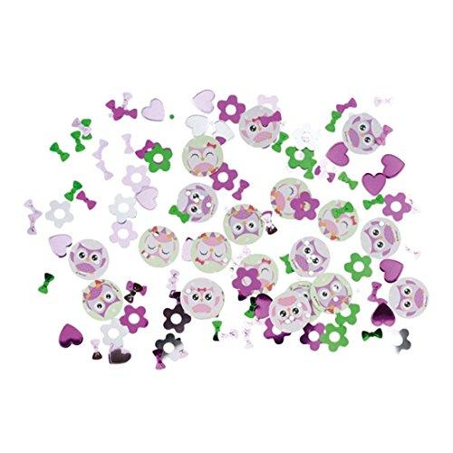 NET TOYS Confettis Chouette 34 g Cotillons Anniversaire d'enfant Hibou Confettis de fête Décoration de Table fête Fille Chat huant confettis en Papier Oiseau Accessoires Anniversaires des Enfants