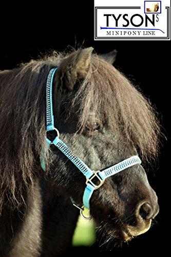 Tysons Breeches Glitzer Halfter Hellblau Minishetty Shetty Jährling Pony VB WB Bling Glitzerhalfter (Pony)