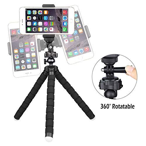 UBeesize Tripod S, Premium Flexible Tripod with Wireless Remote, Compatible with iPhone/Android, Mini Tripod Stand for Camera GoPro/Mobile (Upgraded)