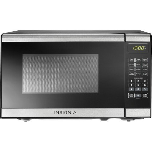 Insignia - 0.7 Cu. Ft. Compact Microwave - Stainless Steel