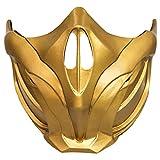 Scorpion Mask Half Face Cosplay Mortal Kombat 11 Game Violent Fight Cosplay Prop...