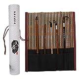 5 piezas pincel de caligrafía china, pintura dibujo pincel de escritura, madera pintura tradicional china pluma escritura caligrafía herramienta arte suministros