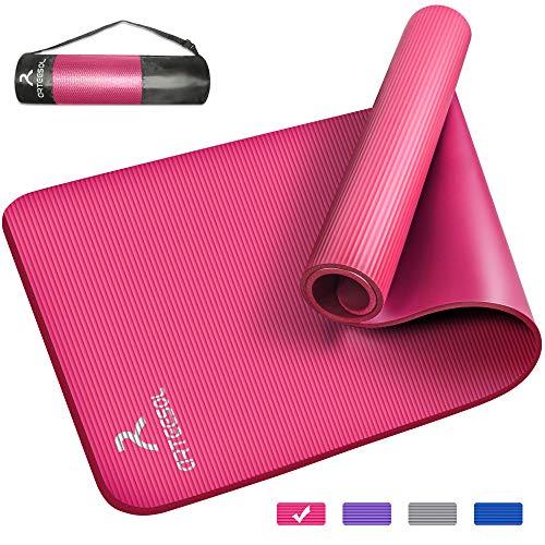 arteesol Yogamatte Non-Slip NBR Material Gymnastikmatte 185cm * 80cm * 1/1,5cm Fitnessmatte für Yoga Pilates Fitness Workout & Gymnastik Trainingsmatte (Rosa, 185x80x1,5cm)