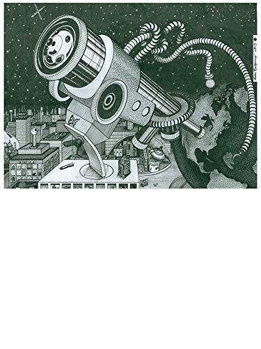 Microscope or Telescope Window Truck Car Vinyl Bumper Sticker Decal 5'' x 4''