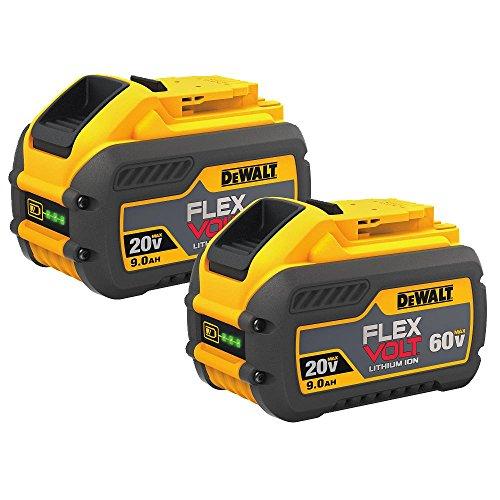 DEWALT FLEXVOLT 20V/60V MAX Batteries, 9.0-Ah, 2-Pack (DCB609-2)