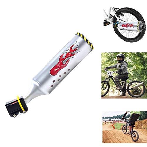 ZXYAN mit 6 verstellbaren Turbo Motorrad Ton Fahrrad Auspuff-Sound-System, Motor Sound-Bike Motor Radfahren Zubehör Kindern