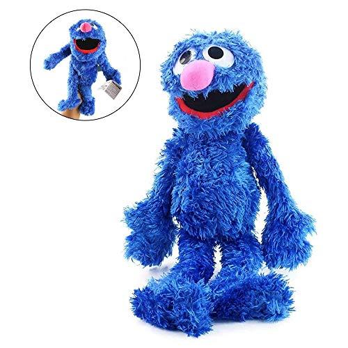 Barrio Sésamo El Show De Los Muppets,Juguete De Peluche Sesame Plush Hand Puppet Toy Sesame Street Plush Cookie Monster Hand Puppet Play Games Doll Toy Puppets Toy Educativo Para Niños 31cm / Grover