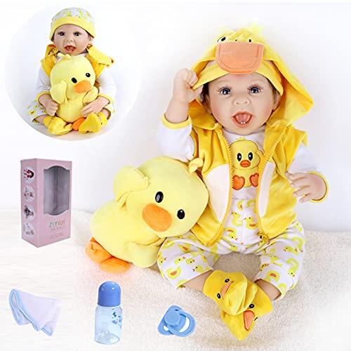 Bambole Reborn Maschio 22 Pollici Reborn Bambino Bambola Silicone Vinile 55 cm Realistica del...