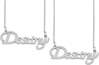Utkarsh (Set Of 2 Pcs) Silver Color Fancy & Stylish Trending Valentine's Day Special Metal Stainless Steel Destiny Name Le...