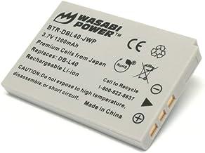 Wasabi Power Battery for Sanyo DB-L40, DB-L40AU and Sanyo Xacti DMW-HD2, DMX-HD1, DMX-HD2, DMX-HD15, DMX-HD700, DMX-HD800,...
