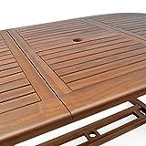 Sitzgruppe 6+1 FSC-zertifiziertes Eukalyptusholz klappbar 7-TLG Tisch Sitzgarnitur - 8
