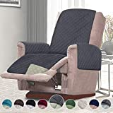 RHF Reversible Recliner Chair Cover, Chair Cover, Recliner Cover, Pet Cover for Chair, Furniture Protector, Machine Washable, Double Diamond Quilted(Recliner-Small:Grey/Beige)