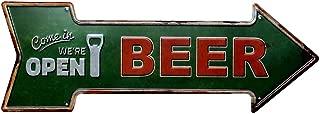 Westeng Publicidad Metálica de Pared para Diseño de Flecha Decoración Cartel de Chapa Decorativa Señalización Vintage Metal Cartel de la Pared Cerveza Decoración para Hogar Bar Size 45 * 16cm (Beer)