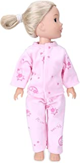 WakaoFeeling 14 Inch Doll Pajamas Compatible with Wellie (5 Girls) Wisher,Dozing Bunny Print Fabric,Super Soft Cloth