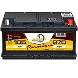 Auto Batterie 12V 105Ah 870A/EN Adler Premium Batterie statt 85 88 90 92 95 100 Ah
