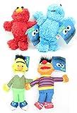 Conjunto Completo 4 Felpa PLUSH Personajes 26cm Muppets Blas Elmo Epi Monstruo de las Galletas peludos Originales Oficiales