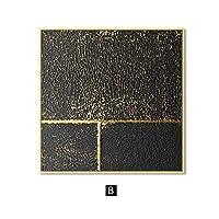 背景壁の装飾の模倣ドン黄金長方形と正方形の装飾北欧の装飾写真壁アートキャンバス抽象絵画現代の家の装飾ポスタープリント壁の写真リビングルーム