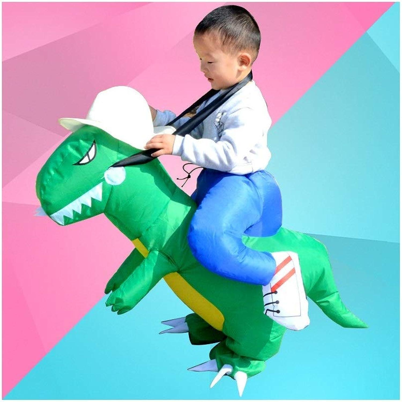 productos creativos JZG Juguete Infantil Dinosaurio Fiesta Fiesta Fiesta CosJugar Traje Inflable de Halloween Mascota CosJugar Unisex Al Aire Libre (Color   verde)  solo para ti