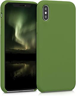 kwmobile TPU Silicone Case for Apple iPhone X - Soft Flexible Rubber Protective Cover - Pale Olive Green