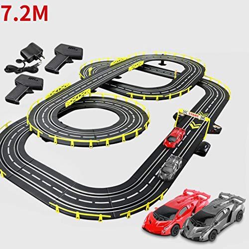 ZKW-Track 1: 43 Ranura Escala de la Pista Modelo de Empalme Sendero Educativo 7.2M del Coche de Carril de Na Regalo de cumpleaños la unión de Bloques (Size : Electric+Manual+4 Cars)