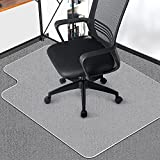 ComHoma Office Chair Mat for Carpet, 48' x 36' Clear Desk Chair Mat for Carpet Floors Non-Slip Easy to Clean PVC Easy Glide Transparent Mats for Desk Chairs with Lip for Home Office, BPA Free