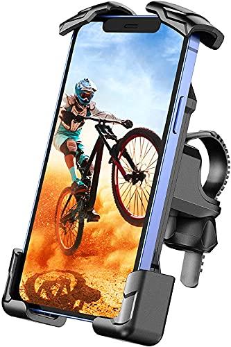 Cocoda Soporte Movil Bicicleta, Soporte Movil Moto con Abrazadera de Acero Inoxidable y Protección de Cuatro Esquinas, Soporte Móvil Bicicleta Compatible con iPhone 12 Pro Max/12 Mini y Otro 4.7-7.0'