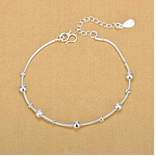 Zilveren slang ketting sieraden armband zilver kleur grote kleine kralen kralen armbanden