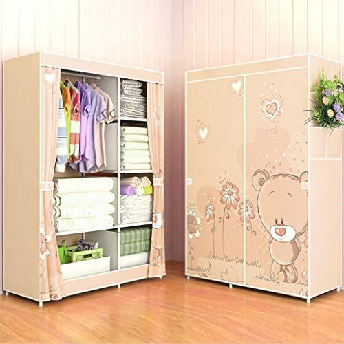 MMM& Einfache Kleiderschrank Steel Tube Verdickung Folding Schränke Montage Storage Cabinet (Farbe : # 6)