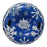 Hbao Aufblasbarer Schneespielzeug-Winter-Skiring mit Griff, langlebiger Schneeröhren-Skiring für Erwachsene, Dicker Schwimmbrettschlitten (Color : Blue)