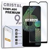 Protector de Pantalla Curvo para OPPO REALME 6i - C3-5i - 5S - C15-5 - C11 - NARZO 30A, Negro, Cristal Vidrio Templado Premium, 3D / 4D / 5D
