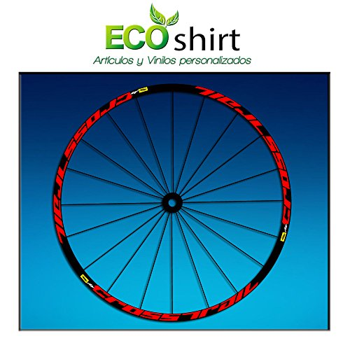 Ecoshirt 2X-APSD-0EGS Pegatinas Stickers Llanta Rim Mavic Crosstrail Bike 26' 27,5' Am58 MTB Downhill, Rojo 27.5'