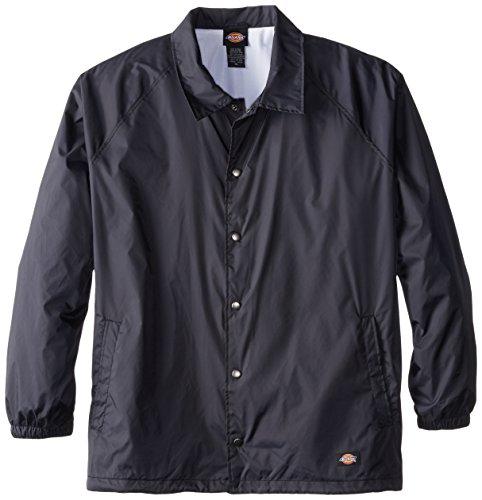 Dickies Men's Big Snap Front Nylon Jacket, Dark Navy, 3X