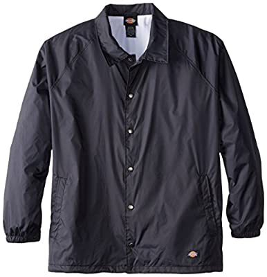 Dickies Men's Big Snap Front Nylon Jacket, Dark Navy, 3X from Dickies Men's Sportswear
