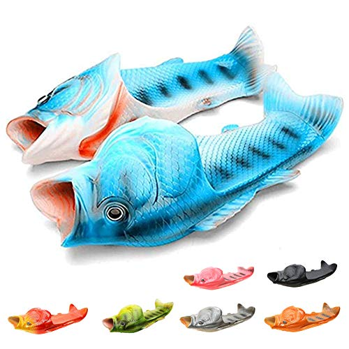 Modesandalen Flip Flops Fischpantoffeln Strandschuhe Damen Flip Flops Unisex Sandalen Kreative lustige Fischform Pool Hausschuhe Strandpantoffeln Jungen und Mädchen 24-47EU