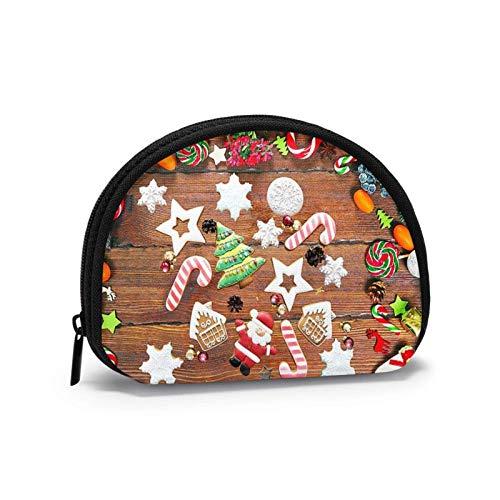 Weihnachtsplätzchen Kleine Geldbörse Brieftasche mi-NI Kosmetiktaschen Reißverschlusstasche Für Frauen