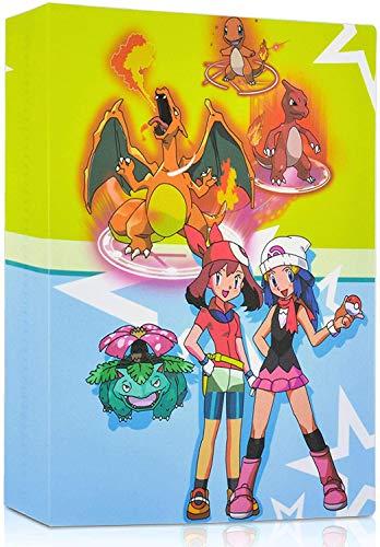 erlliyeu Samlingskort, klippböcker, album, korthållare, bästa skydd för Pokémon samlarkort GX EX kort Album, 30 sidor Kan rymma upp till 240 kort (NVHAI)