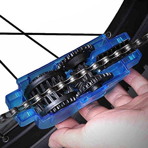 Yizhet Fahrrad Kettenreinigungsgerät Fahrradkettenreiniger Reinigung Scrubber Pinsel-Werkzeug im Set für Kettenreinigung Schnelles Sauberes Werkzeug Cycling Bike Bicycle Chain Cleaner - 4