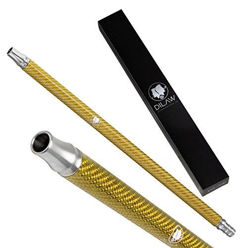 DILAW® Shisha Carbon Mundstück Edelstahl V2A ✓ Kombinierbar mit Allen handelsüblichen Schläuchen Farbe Gold