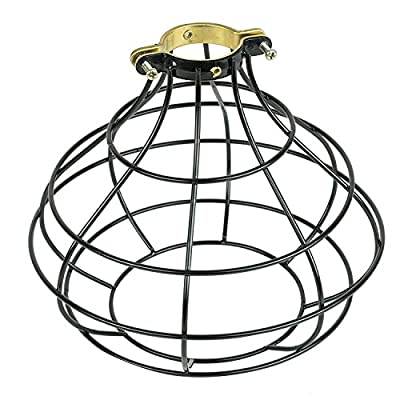 Industrial Vintage Style Top Black Light Cage for Pendant Light Lamps