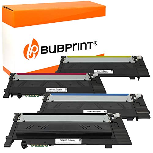 4 Bubprint Toner kompatibel für Samsung CLT-P406C für CLP-360 CLP-365 CLP-365W CLX-3300 CLX-3305 CLX-3305FN CLX-3305FW CLX-3305W Xpress C410W C460 C460FW C460W Set
