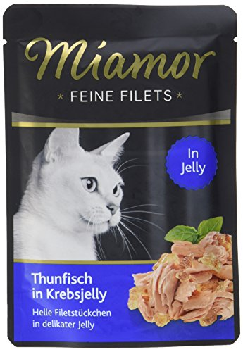 Miamor Feine Filets in Jelly Pouch Thunfisch in Krebsjelly, 24er Pack (24 x 100 g)