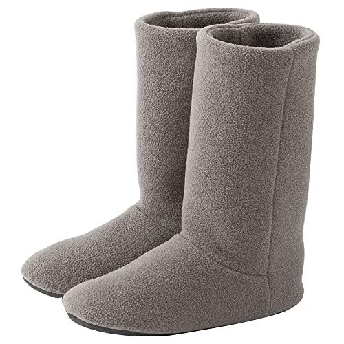 [KOCOTA] ロングタイプ ルームブーツ あったか ルームシューズ 冬用 室内履き 足冷え対策 メンズ レディース ライトグレー 23.5~25cm