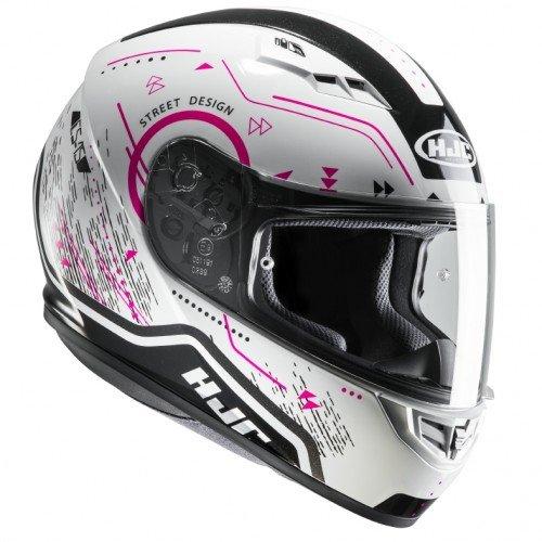 Casco moto HJC CS 15 SAFA MC8, Bianco/Pink, S