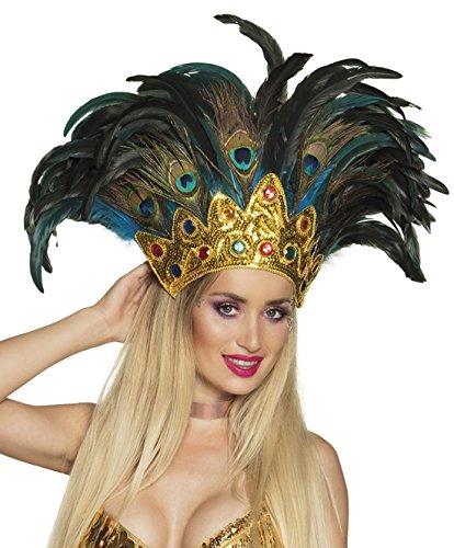 Faschingsfete Bazilian Style Feder Kopfbedeckung Kostüm Karneval in Rio, Mehrfarbig