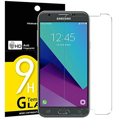 NEW\'C PanzerglasFolie Schutzfolie für Samsung Galaxy J5 2017, Frei von Kratzern Fingabdrücken und Öl, 9H Härte, HD Displayschutzfolie, 0.33mm Ultra-klar, Displayschutzfolie Samsung J5 2017