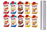 Premier Protein Shakes Drinks - Low Carb High Protein Shakes Variety 10 Pack (30g) | 2 of Each Flavor - Chocolate, Strawberry, Vanilla, Banana & Caramel | Bonus of 10 Individually Wrapped Straws